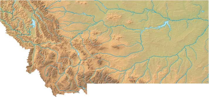 Montana Relief Map