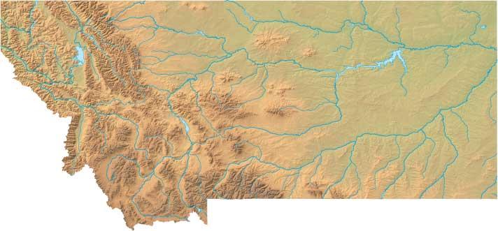 Montana Relief Map